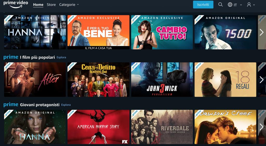 Luglio Amazon Prime Video. Le serie TV