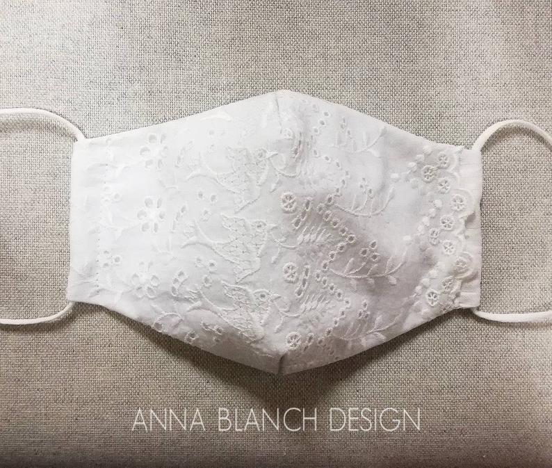 Mascherina Anna Blach Design su Ets. Motivo rondini